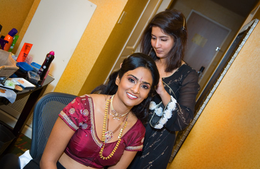 South indian bride, hair and make up 1