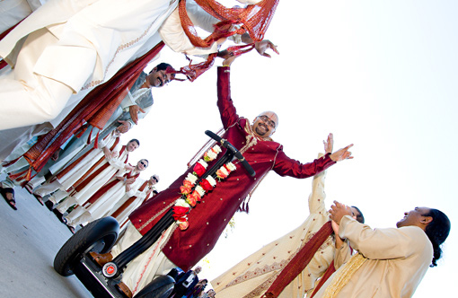 Indian wedding creative groom's entry 1