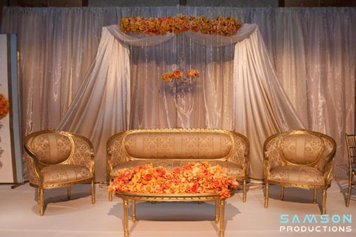 Tiffany blue and orange, indian wedding sweetheart table