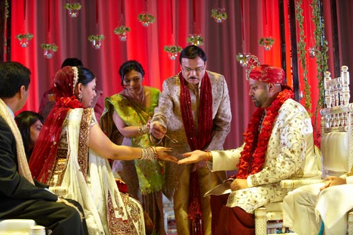 Destination indian wedding, cruise, indian bride and groom, hindu ceremony, 2