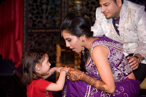 Indian wedding, sangeet, indian bride purple lengha 2