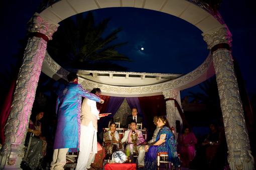 Outdoor indian wedding, atlantis hotel
