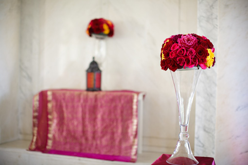 Indian wedding, reception decor 1