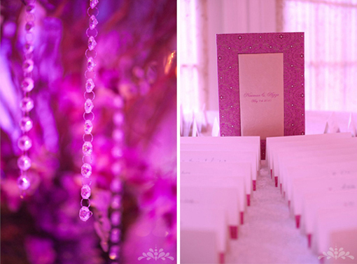 Indian wedding decor, placecards reception, modern