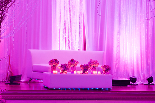 Indian wedding decor, sweetheart table reception, modern