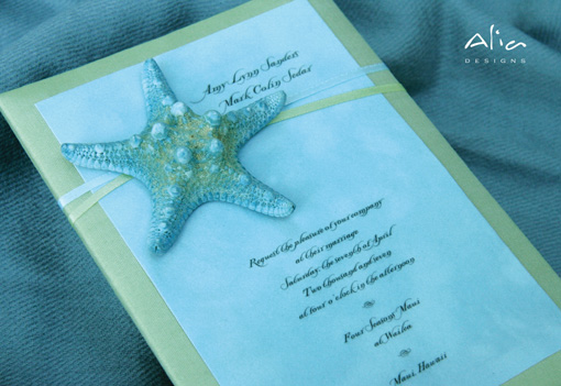 Beach theme indian wedding invitation 2