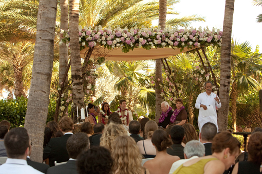 Indian wedding, outdoor mandap