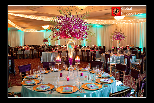 Indian wedding, purple decor 2
