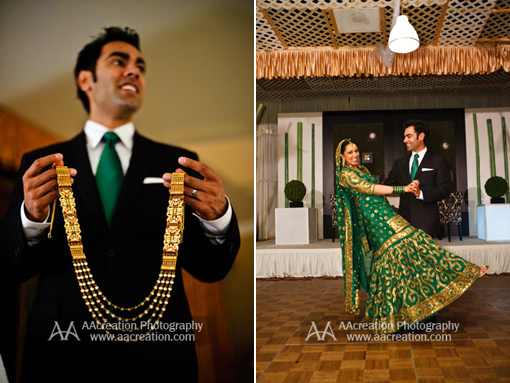 Indian wedding, green bridal lengha 1 copy