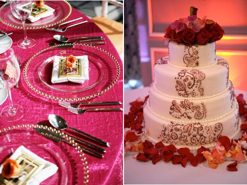 Indian fusion wedding , wedding cake copy