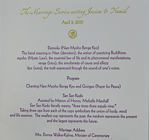 Indian wedding ceremony program 2