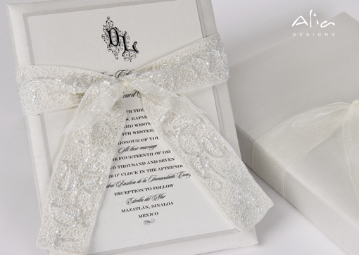 Indian wedding invitation ribbon 2