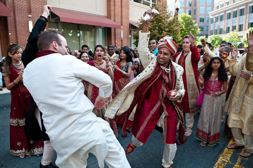 Indian wedding baraat 1