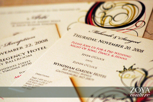 Indian wedding invitation 6