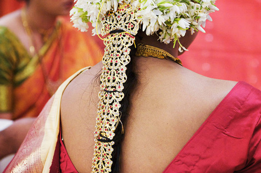 South indian wedding hair 1