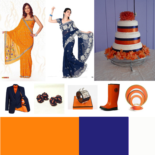 Orange and navy copy