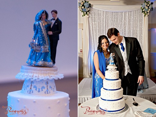 Indian wedding cake and topper copy