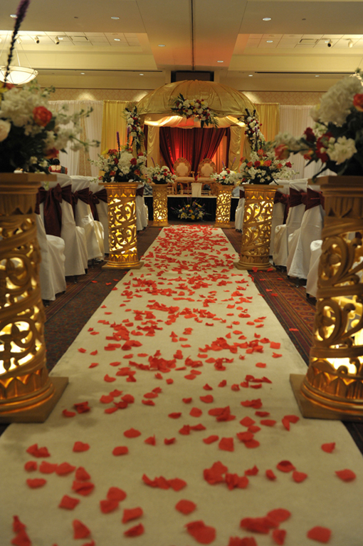 Indian-wedding-white-mandap-red-flowers