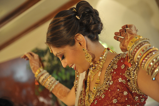 Indian-wedding-bride-red-lengha