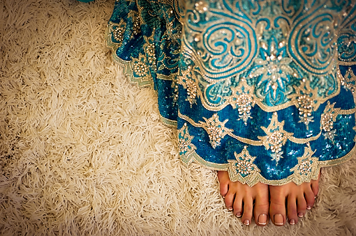 Indian-wedding-blue-lengha