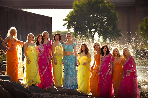 Indian-wedding-multi-color-bridesmaids