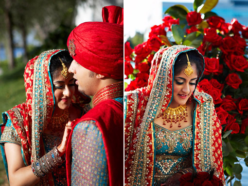 Indian-wedding-blue-and-red-sari copy