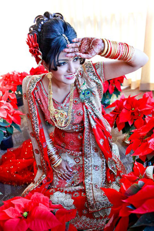 Indian-bride-red-bridal-lengha-Neha