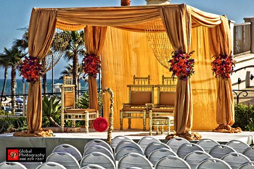 Indian-wedding-gold-mandap