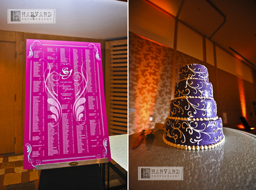 Indian wedding cake and ideas for seating chart copy