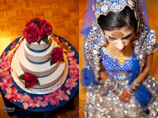 Indian wedding cake and bride copy