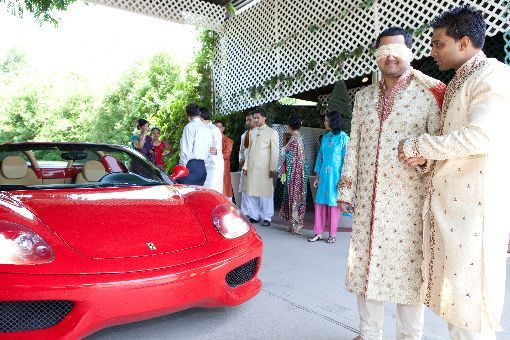 Indian-wedding-baraat-ferrari