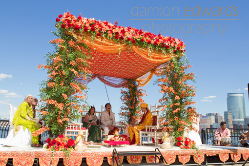 Indian-wedding-orange-mandap