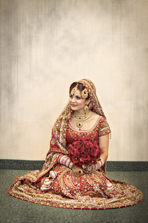 Indian-bride-red-bridal-lengha