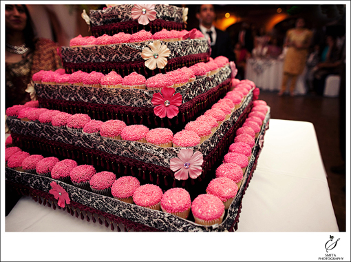 Indian-wedding-reception-cupcake-tower-1