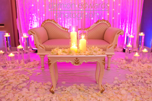 Indian-wedding-stage-reception-white