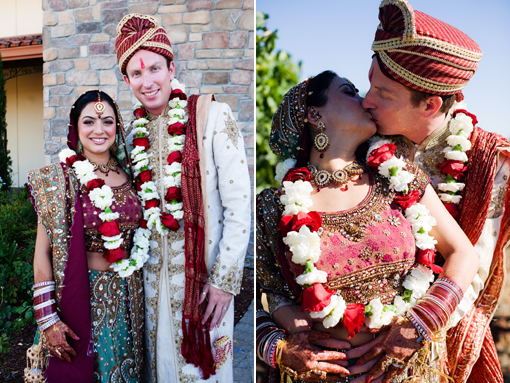 Indian Fusion Wedding Bride And Groom Copy