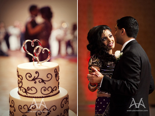 Indian-wedding-bride-groom-purple-lengha-wedding-cake copy