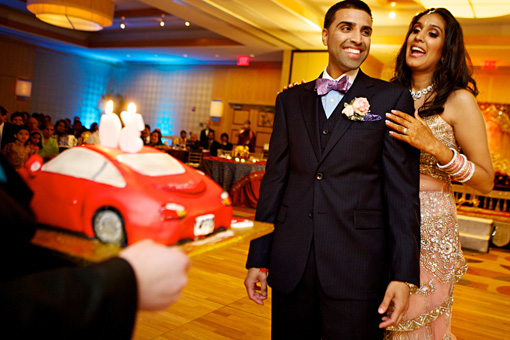 Indian-wedding-groom-cake-porsche-2