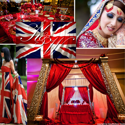 Indian-wedding-british-inspiration-red-blue