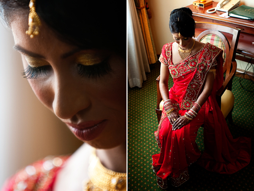 Indian wedding red bridal sari copy