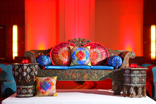 Indian-wedding-sangeet-blue-sofa