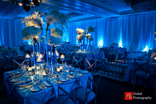 blue wedding decoration ideas. Okay Maharanis  Blue Wave Theme Indian Wedding Reception Maharani Weddings
