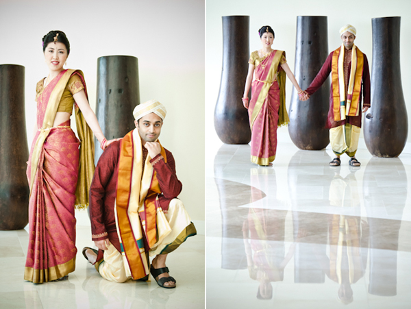 Kimono Meets SariJapanese Indian Fusion Wedding