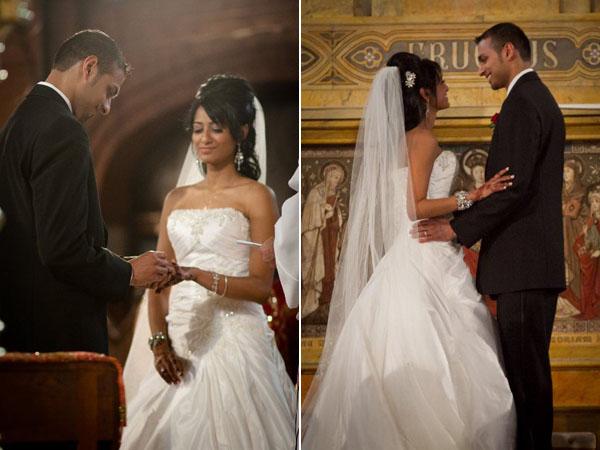 Sweet kansas city indian fusion wedding maharani weddings for Indian fusion wedding dresses