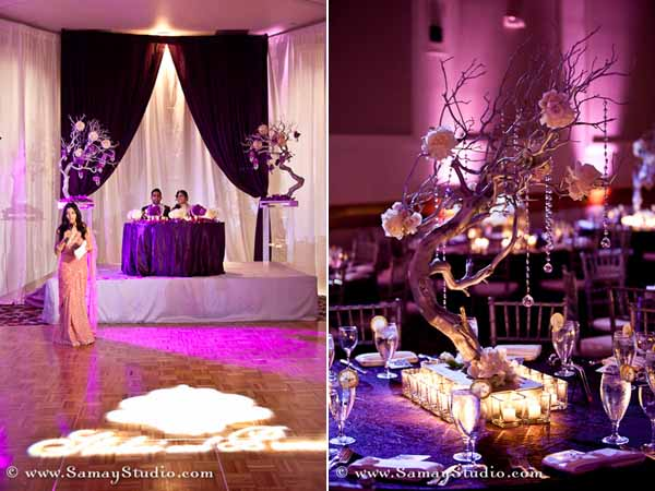 The Bridal Notebook Purple Wedding Reception
