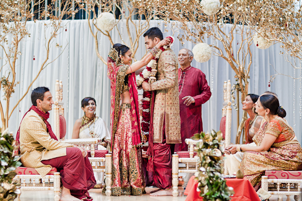 Sophisticated Contemporary Wedding Ceremony In: Modern, Chic San Francisco Indian Wedding