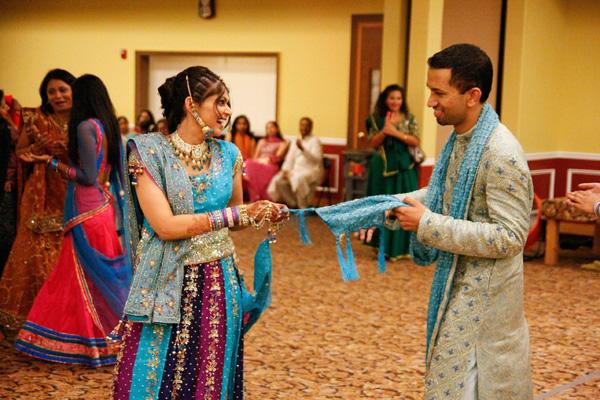 delightful boston indian wedding the garba