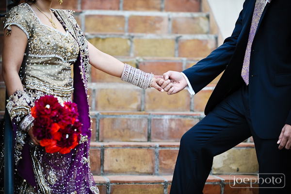 purple wedding lengha for indian bride