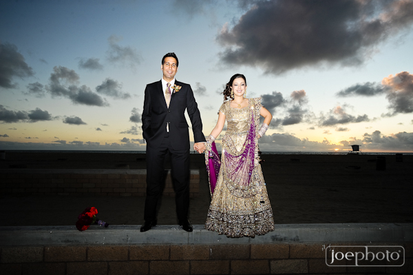 Indian wedding photography of indian bride and groom