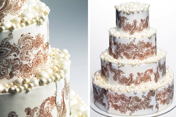 Mehndi Inspired Cake : Mehndi inspired indian wedding cakes by cakework maharani weddings